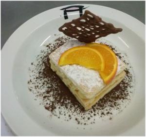 tortitas de crema pastelera y azucar