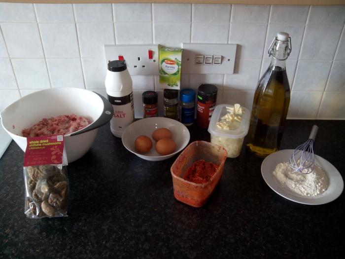 ingredientes-albondigas-de-pavo-con salsa-shiitake