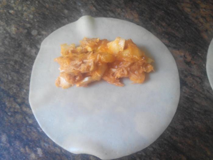 rellenar empanadilla